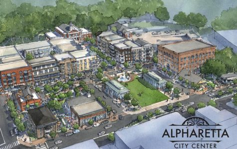 Is construction in downtown Alpharetta ruining the charm of the area?