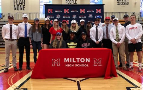 Signing Day Sees 19 Milton Athletes Continue Athletic Careers Into College