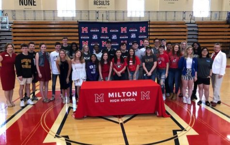 Milton's Fine Arts Signing Day