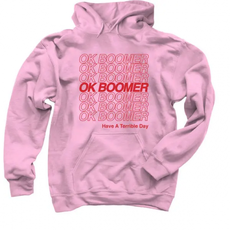 Shannon O'Connor's OK BOOMER hoodie.Credit...via Shannon O'Connor