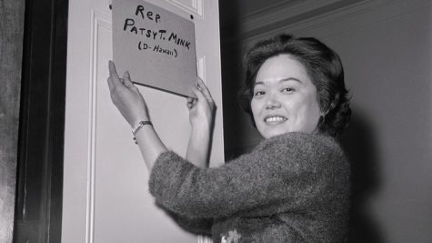 Democratic Representative Patsy Mink.